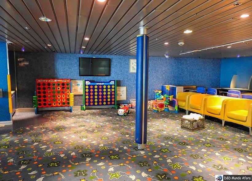 Área infantil - Cruzeiros marítimos: tudo sobre viagem de navio