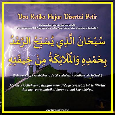 doa ketika hujan disertai petir