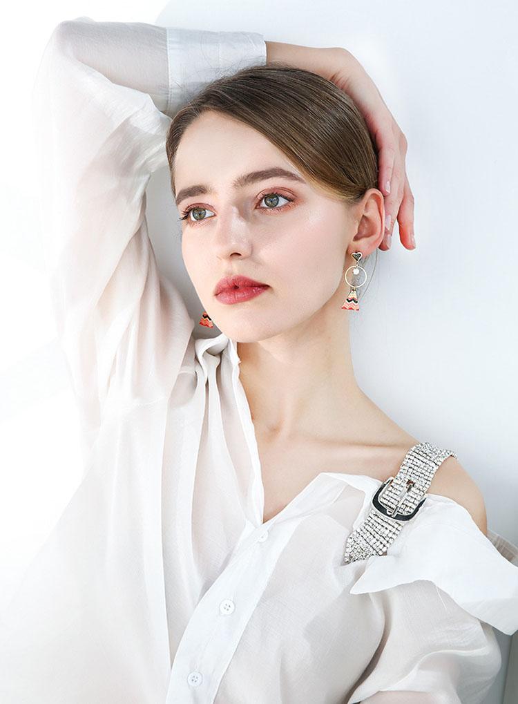 尤莉甜美金屬風耳環