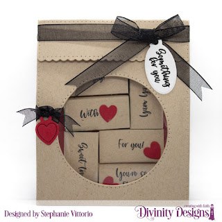 Divinity Designs Stamp Set: Festive Favors Tag Sentiments, Custom Dies: Festive Favors
