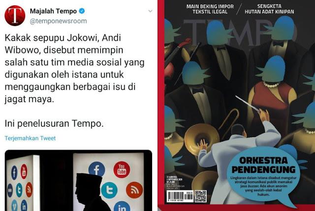 Majalah Tempo Beberkan Jeroan Influencer dan Buzzer di Lingkungan Istana