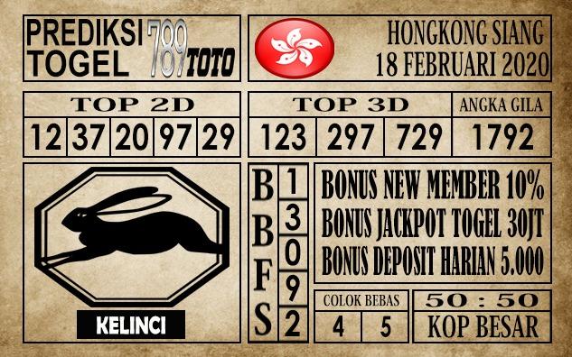 Prediksi Togel Hongkong JP 17 Februari 2020 - Prediksi Togel 789toto