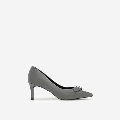 Giày Cao Gót Phối Belt - BMN 0349 - Màu Xám