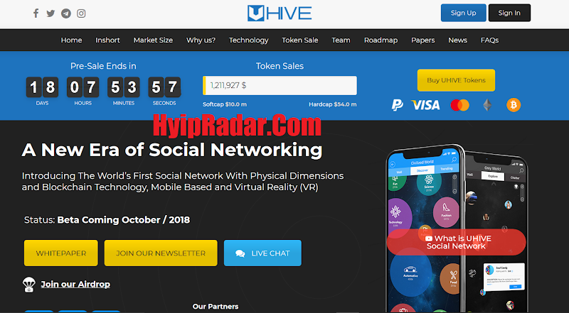 Review ICO Uhive [HVE] - Start 11 Apr 2018