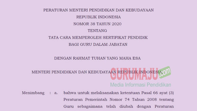 Syarat Pendaftaran PPG 2021