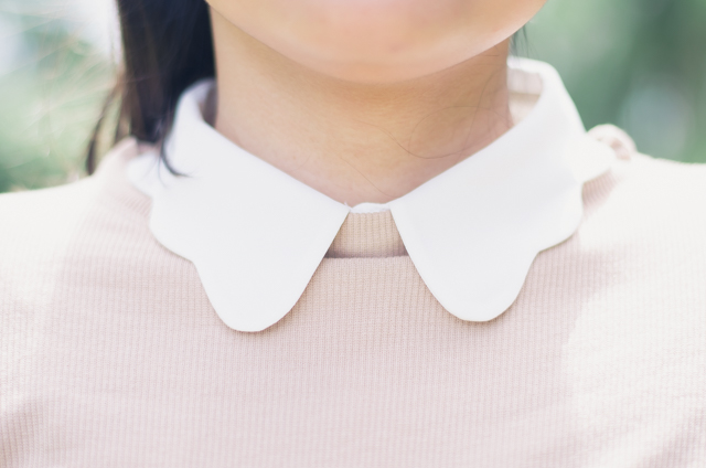 Scalloped Collar Jumper Detail