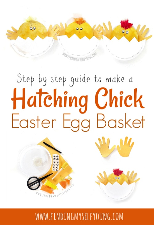 how to make a paper plate easter chick basket