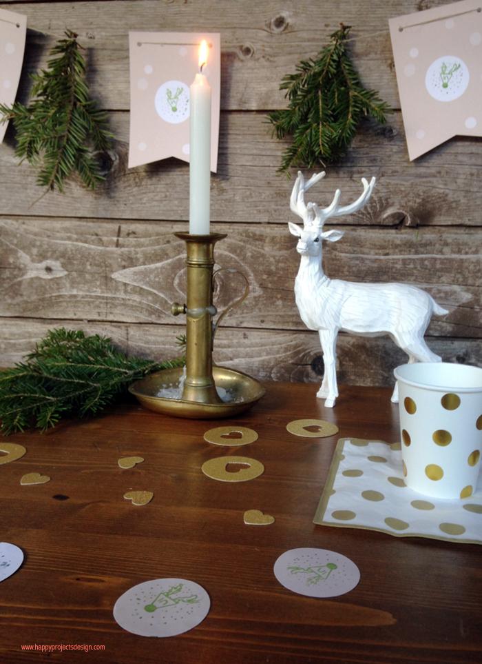 mesa de navidad natural para niños