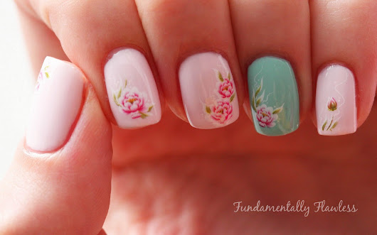 Born Pretty Store Rose Water Decals Review