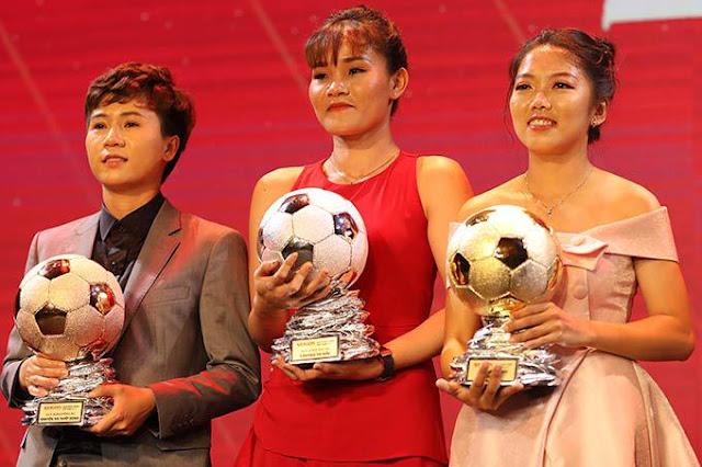 Cận cảnh nhan sắc bạn gái mới của Quang Hải tại buổi lễ trao giải Quả bóng vàng