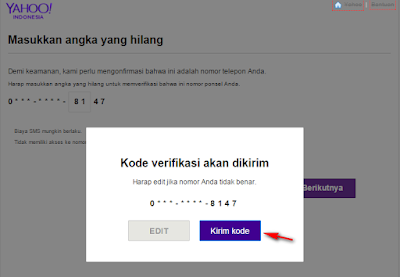 cara mengembalikan password email yahoo