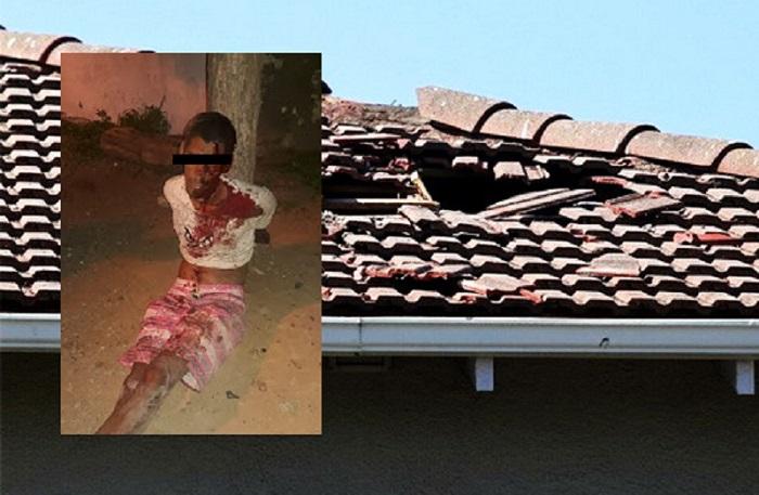 Ladrão cai do telhado tentando roubar residência e é contido por população em Juazeiro