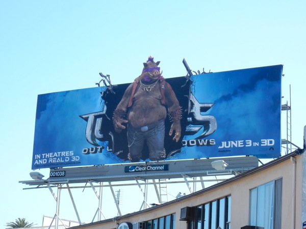 Ninja Turtles Out of the Shadows Bebop cut-out billboard