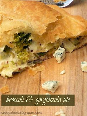 Broccoli & Blue Cheese Pie
