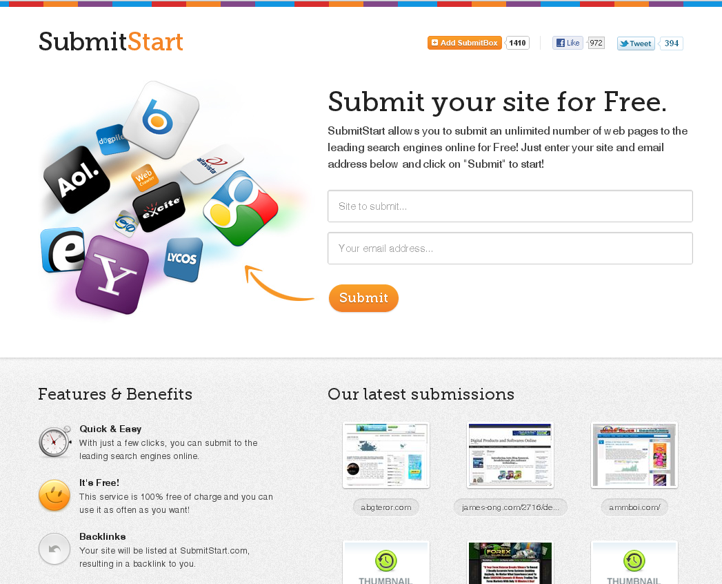 Free Web Submission | Free Search Engine Submission
