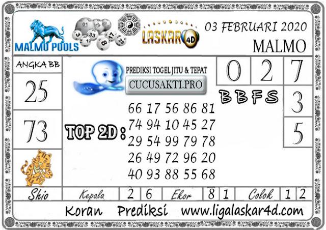 Prediksi Togel MALMO LASKAR4D 03 FEBRUARI 2020