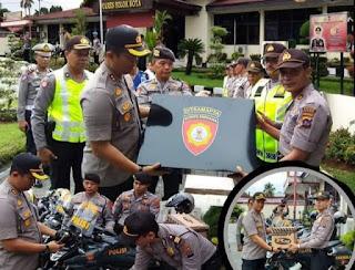 Polres Solok Kota Gelar Apel Pergeseran Pasukan Operasi Lilin 2019