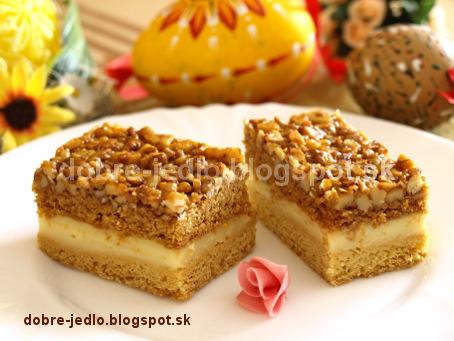 Medovo-orechový koláč - recepty
