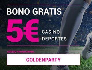 Goldenpark bono gratis 5€ solo hoy 11 junio