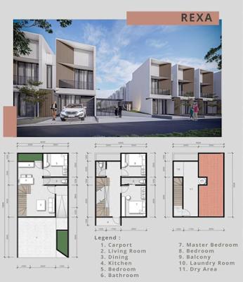 Floor Plan Tipe Rexa Rumah Murah Baru Di Medan Promo DISKON 100 Juta dan Free Biaya Akad (AJB, Pajak, Balik Nama) - AT HOME