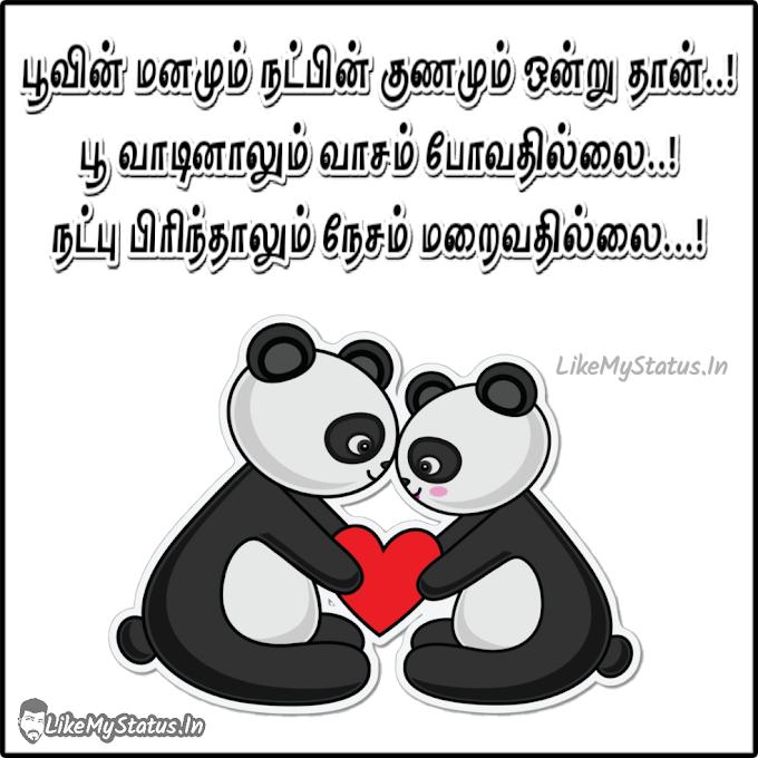 பூவின் மனமும் நட்பின் குணமும்... Tamil Friendship Status Image...