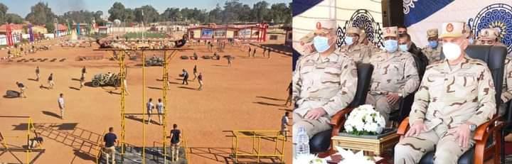 رئيس الأركان  يتفقد معسكر إعداد وتأهيل مقاتلى شمال سيناء بالجيش الثانى الميدانى