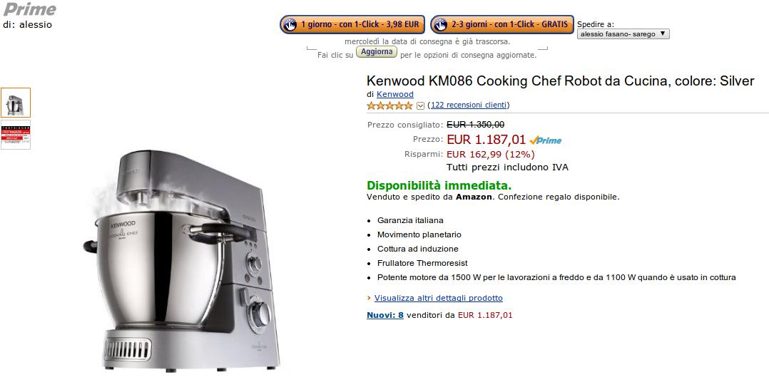 IL BLOG DI ALESSIO FASANO: Offerta speciale Robot da cucina ...
