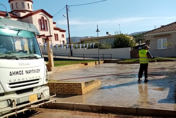 Στην Τοπική Κοινότητα Πουλακίδας η υπηρεσία καθαριότητας του Δήμου Ναυπλιέων