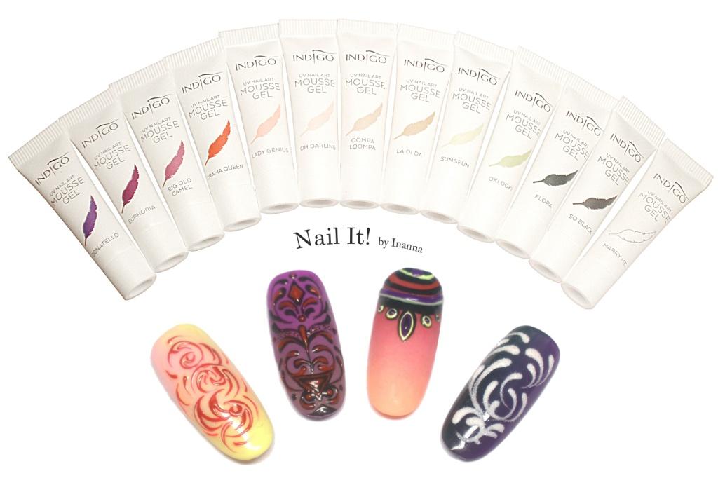 "Indigo Nails ""Mousse Gel"" ::: Review and  Nail Arts"