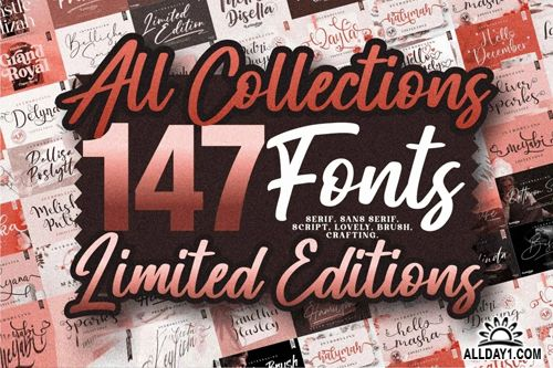 147 Fonts – All Collections – Limited Editions
