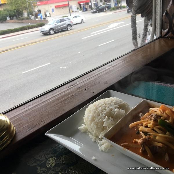 red curry at Sa Wooei Thai restaurant in El Cerrito, California