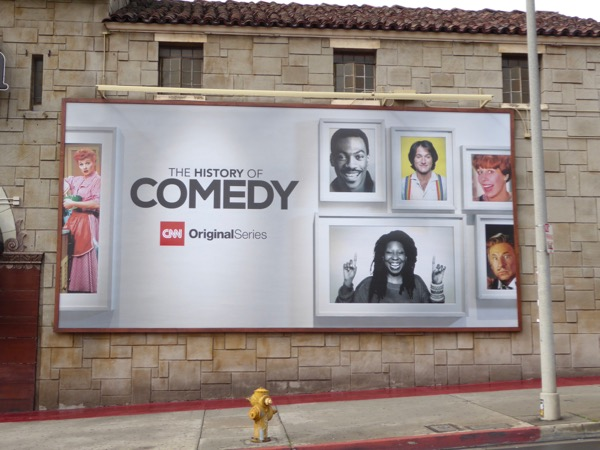 History of Comedy CNN series billboard