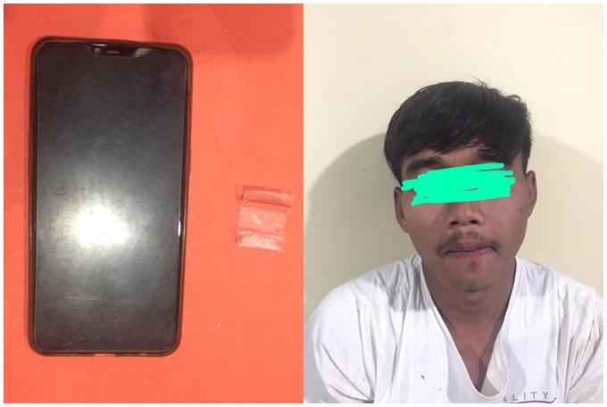 POLRES PESAWARAN UNGKAP KASUS NARKOBA Dengan Modus Menyelipkan BB di Dalam Casing Smartphone