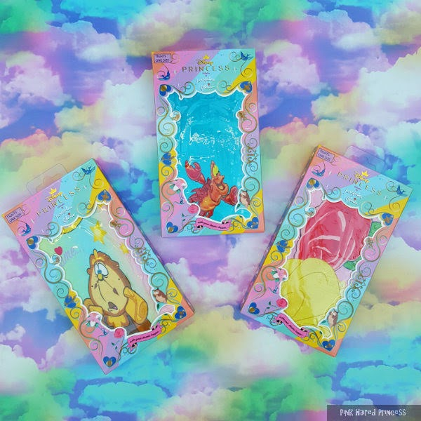 rainbow cloud background with 3 packets of disney irregular choice tights