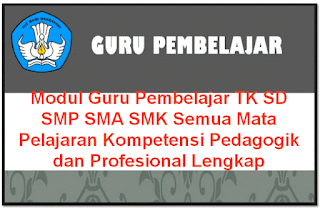 Modul Guru Pembelajar TK, SD, SMP, SMA/SMK