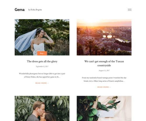 Gema Blogger Template