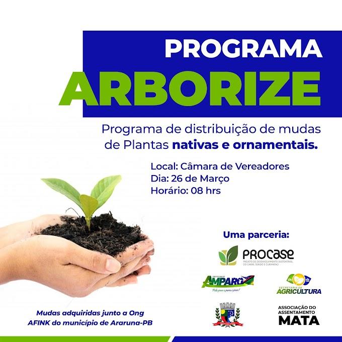 Prefeitura de Amparo fará distribuição de plantas nativas e ornamentais na próxima sexta-feira