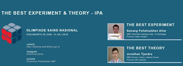 OSN SMP ke-18 Tahun 2019 di Yogyakarta