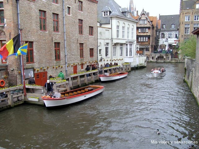 Embarcadero en Brujas, Bélgica