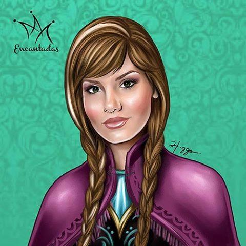 Ilustrador Higgo Cabral transforma celebridades em princesas Disney