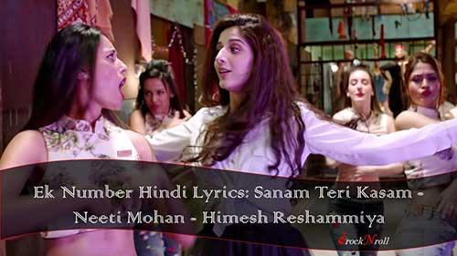 Ek-Number-Hindi-Lyrics-Sanam-Teri-Kasam