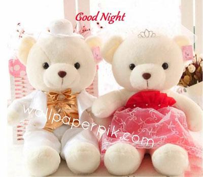teddy dolls  good night images wallpaper download