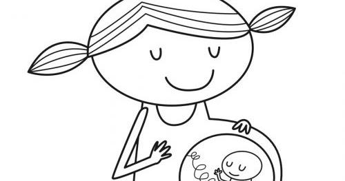 Dibujos Para Colorear Maternidad Embarazo
