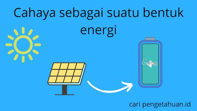 energi cahaya diubah menjadi energi listrik
