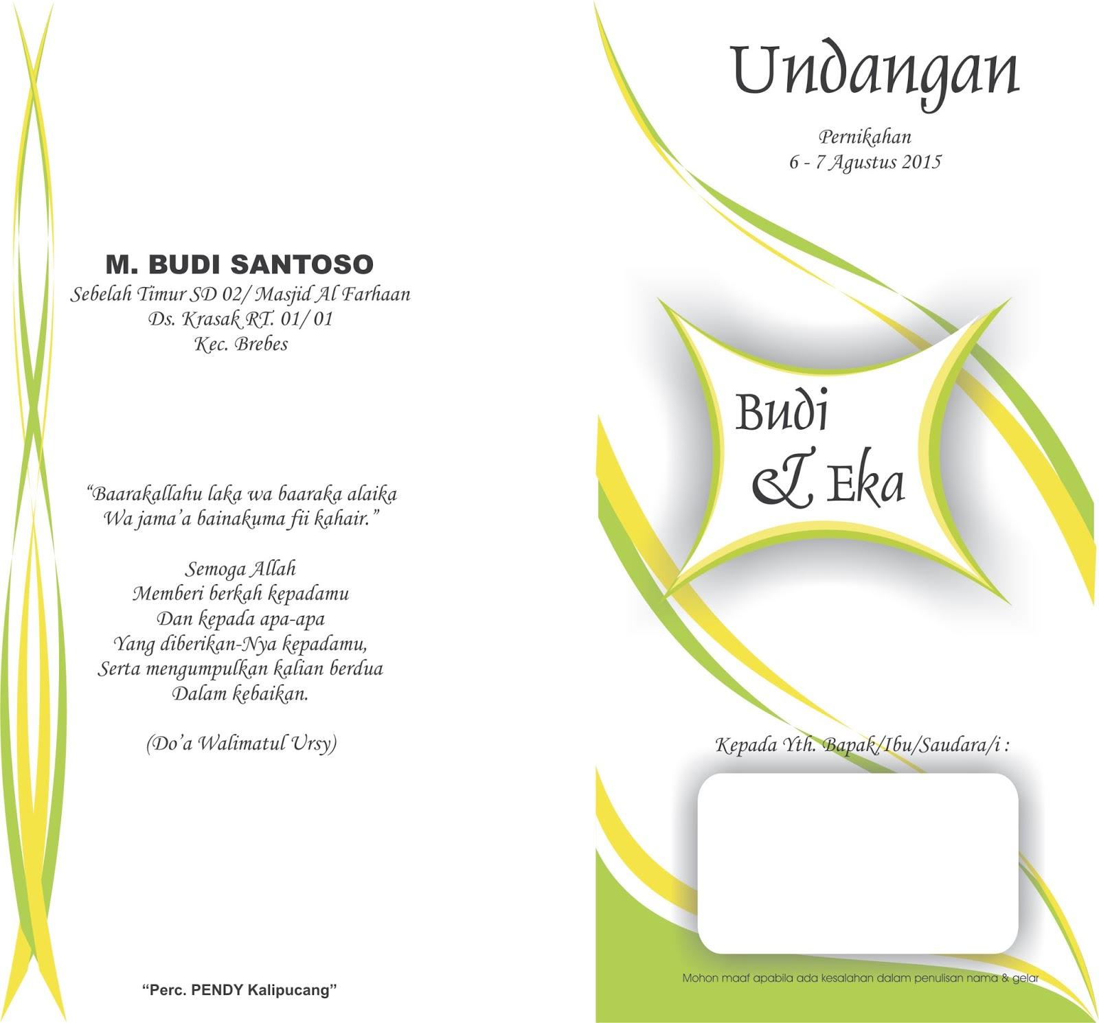 Download Gratis Desain Undangan Pernikahan Word Beatfreedom