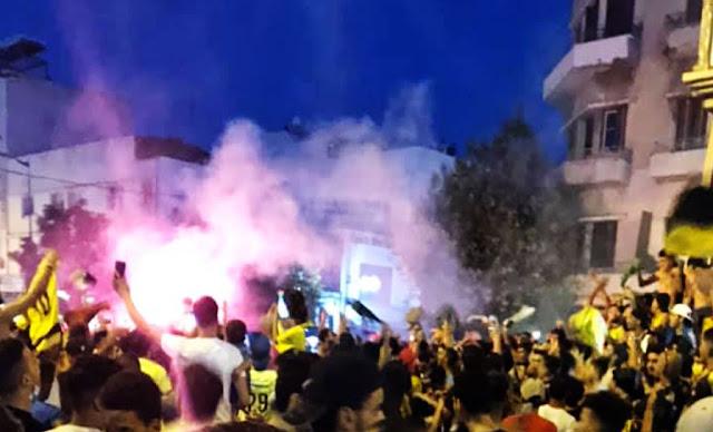 جمهور النّادي البنزرتي يطلق الإحتفالات بعد ضمان البقاء في الرابطة المحترفة الأولي (فيديو)