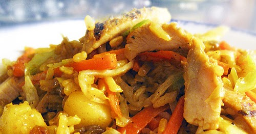 ... Goddess Recipes: Apple Chicken Curry Stir-Fry with Art School Rice