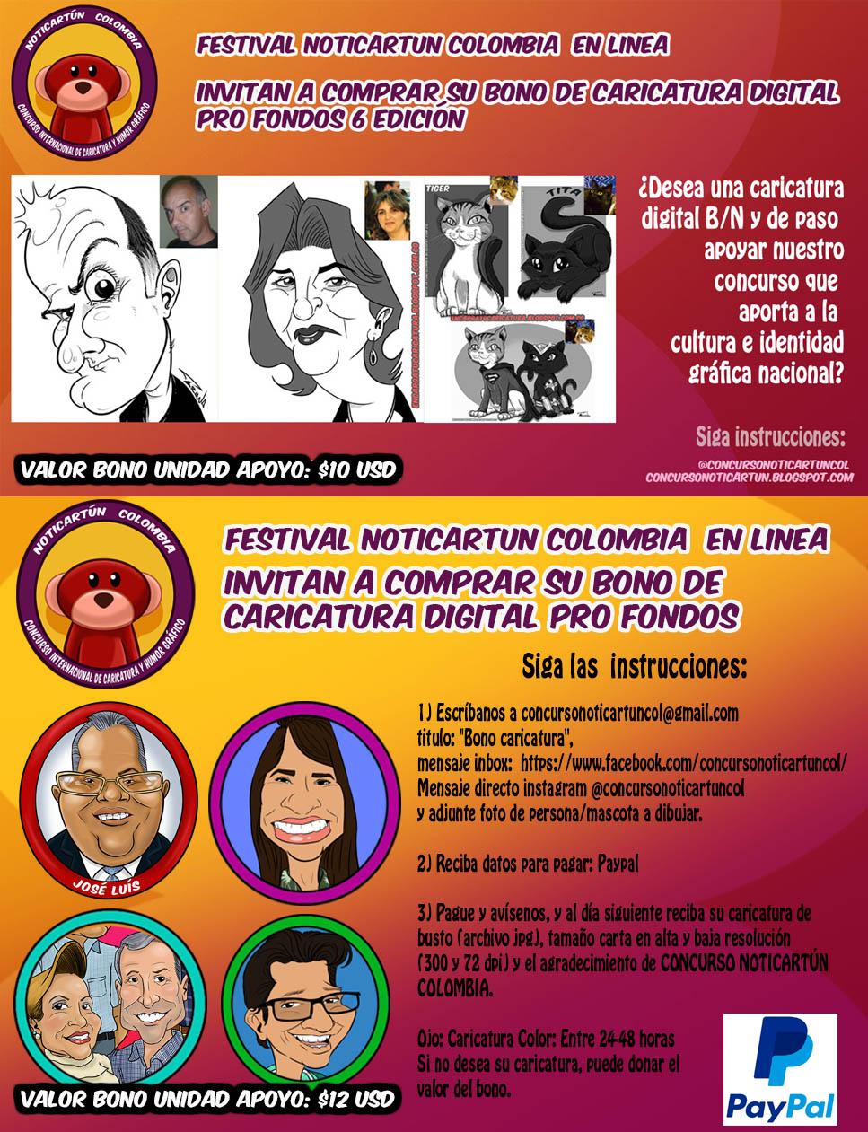 Sponsor Noticartún Colombia 2020. Latinoamérica Patrocinanos.