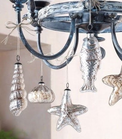 9 easy christmas holiday decorations with a nod to for Hanging ornaments from chandelier