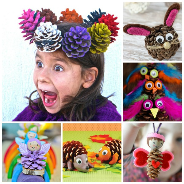 16 AWESOME KIDS CRAFTS USING PINE CONES #pineconecraftsforkids #pineconecrafts #craftsforkids #artsandcraftsforkids #activitiesforkids #pinecones